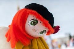 Maslennitsa doll portrait. Russia, Yaroslavl 16 of February 2015 Royalty Free Stock Images