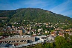 Maslianico-Stadt Stockfotografie