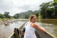 Masoala canoeing Royalty Free Stock Image