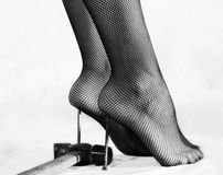 Masochistic foot fetish Stock Photo