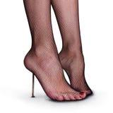 Masochistic foot fetish Stock Photography