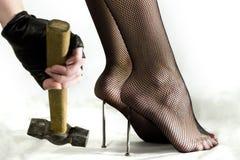 Masochistische voetamulet Stock Afbeelding