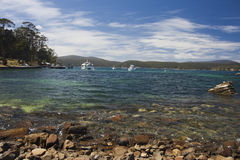 Mason Cove, penal colony in Port Arthur Royalty Free Stock Photo
