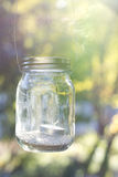 Mason Jar backlit Royalty Free Stock Photo