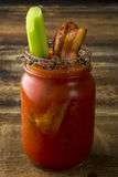 Mason Jar Bacon Bloody Mary Stock Photos