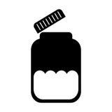 Mason jar bottle icon Stock Photo