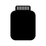 Mason jar bottle icon Stock Photography