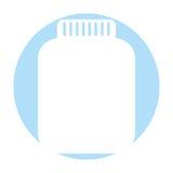 Mason jar bottle icon Royalty Free Stock Photography