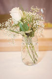 Mason jar bouquet Royalty Free Stock Image