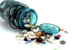 Mason Jar of Buttons stock photos