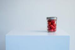 Mason Jar Cherry Tomatoes Fotos de Stock Royalty Free
