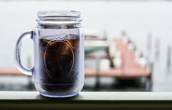 Mason Jar Coffee royaltyfria foton