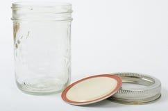 Mason Jar con la tapa apagado Fotos de archivo
