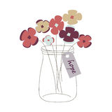 Mason jar with flowers Stock Image