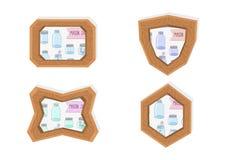 Mason jar frames Stock Image