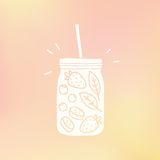 Mason jar with fruits Stock Images