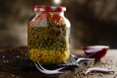 Mason jar salad Royalty Free Stock Images