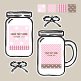 Mason_jar_tags Royalty Free Stock Photos