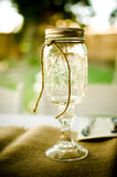 Mason Jar Wine Glass Fotografia de Stock