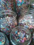 Mason Jars enchido Imagens de Stock Royalty Free