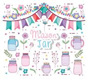 Free Mason Jars Party Stock Image - 115432731