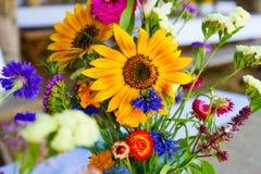 Mason Jars of Wildflowers Royalty Free Stock Photo