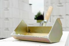 Mason's trowel Royalty Free Stock Photography