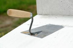 Mason's trowel Royalty Free Stock Photo
