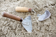 Mason's trowels Stock Photography