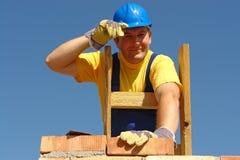 Mason at work Royalty Free Stock Photo