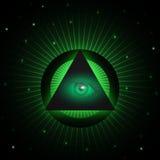 Masonic предпосылка глаза Стоковые Фото