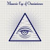 Masonic eye of Omniscience sketch Stock Photos