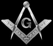 masonic fyrkant för kompass Arkivbilder