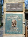 Masonic lodge Bayreuth - Eleusis zur Verschwiegenheit stock photo