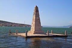 Masonic Obelisk at Argostoli in Greece Stock Photos