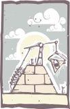Masonic Pyramid Construction B Royalty Free Stock Images
