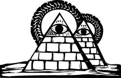 Masonic Pyramids Royalty Free Stock Images