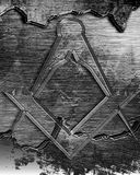 Masonic square and compass Royalty Free Stock Photography