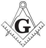 The Masonic Square and Compass symbol, freemason Royalty Free Stock Photos
