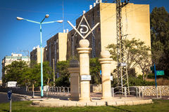 Masonic Square and surrounding streets in the capital of the Negev. Be`er Sheva is the largest city Royalty Free Stock Photos