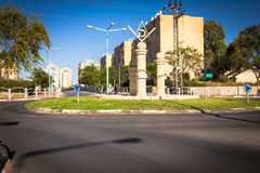 Masonic Square and surrounding streets in the capital of the Negev. Be`er Sheva is the largest city Royalty Free Stock Images