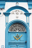 Masonic Symbol on a Door Itu Sao Paulo Stock Photos