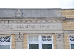 Masonic Temple Building Royalty Free Stock Photos