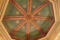 Masonic temple ceiling Royalty Free Stock Photo