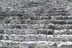 Masonry большого камня Пирамида Kukulkan в Chich Стоковое фото RF