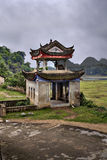 Masonry arbor pagoda in scenic farming area rural China, Guangxi Stock Photo