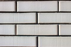 Masonry of beige bricks close up stock photography