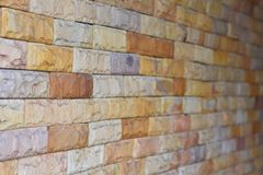 Masonry block walls. Royalty Free Stock Photography