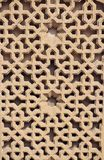 Masonry bricks background. Decorative window in Baku royalty free stock images