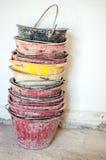 Masonry buckets Royalty Free Stock Image
